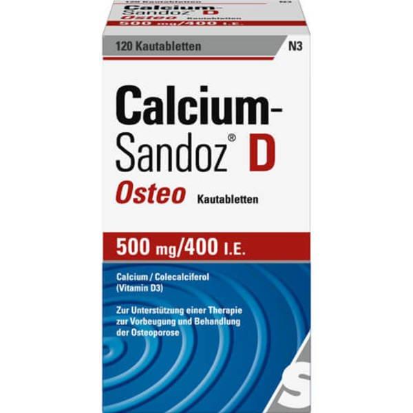 CALCIUM SANDOZ D Osteo 500 mg/400 I.E. Kautabl. 120 St