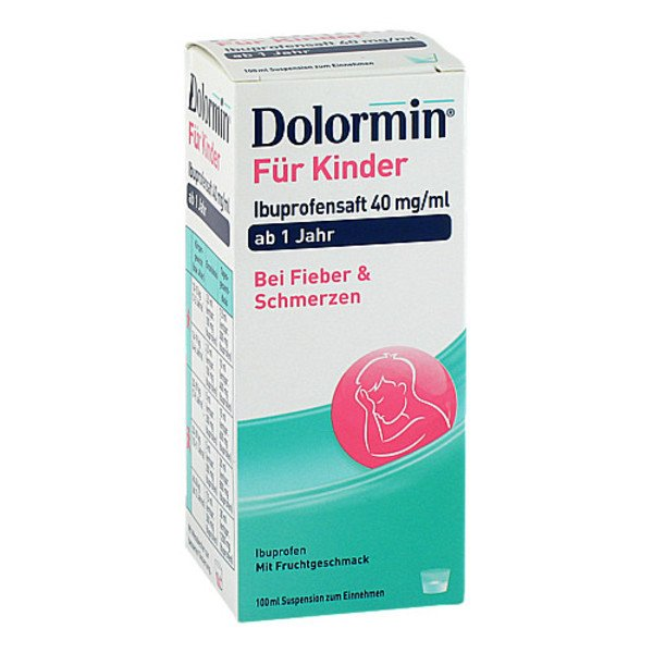 DOLORMIN für Kinder Ibuprofensaft 40 mg/ml Susp. 100 ml