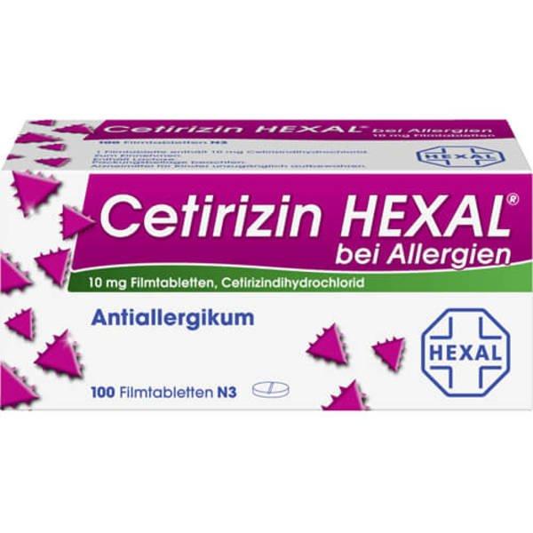 CETIRIZIN HEXAL Filmtabletten bei Allergien 100 St