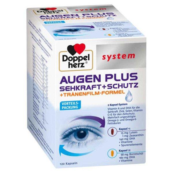 DOPPELHERZ Augen plus Sehkraft+Schutz system Kaps. 120 St