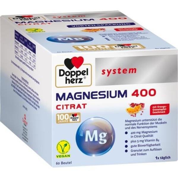 DOPPELHERZ Magnesium 400 Citrat system Granulat 60 St