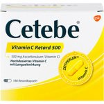 CETEBE Vitamin C Retardkapseln 500 mg 180 St