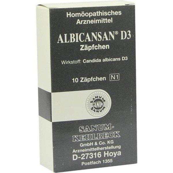 ALBICANSAN D 3 Suppositorien 10 St