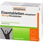 EISENTABLETTEN-ratiopharm 100 mg Filmtabletten 100 St