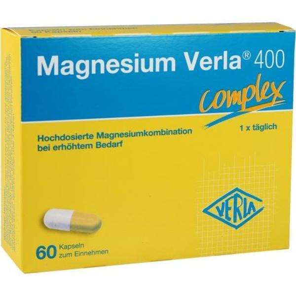 MAGNESIUM VERLA 400 Kapseln 60 Stück  à 1.21 g