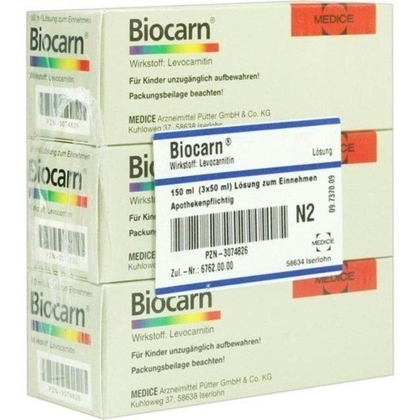 BIOCARN Sirup 3X50 ml