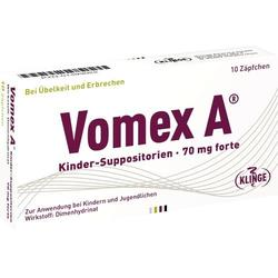 VOMEX A Kinder-Suppositorien 70 mg forte 10 St