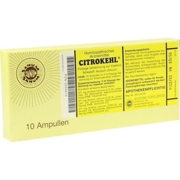 CITROKEHL Ampullen 10X2 ml
