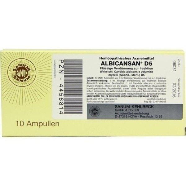 ALBICANSAN D 5 Ampullen 10X1 ml