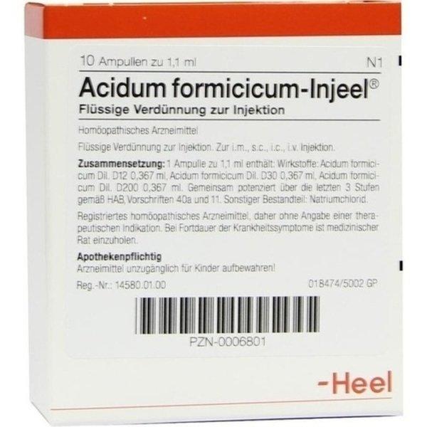 ACIDUM FORMICICUM INJEEL Ampullen 10 St