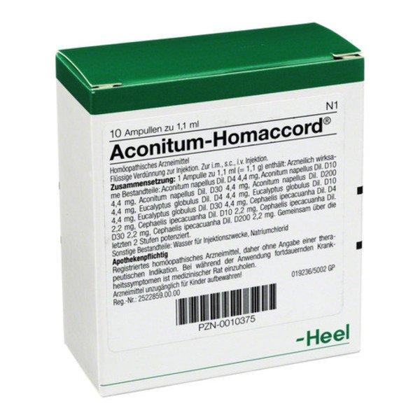 ACONITUM HOMACCORD Ampullen 10 St