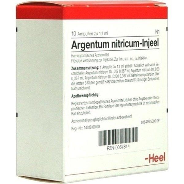 ARGENTUM NITRICUM INJEEL Ampullen 10 St