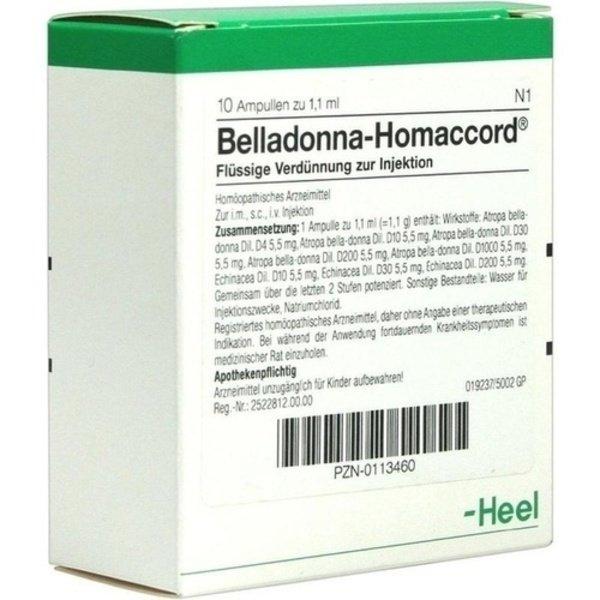 BELLADONNA HOMACCORD Ampullen 10 St