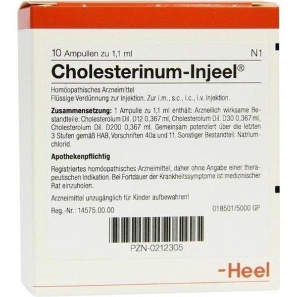 CHOLESTERINUM INJEEL Ampullen 10 St