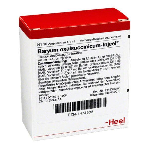 BARYUM oxalsuccinicum Injeel Ampullen 10 St
