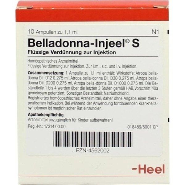 BELLADONNA INJEEL S Ampullen 10 St