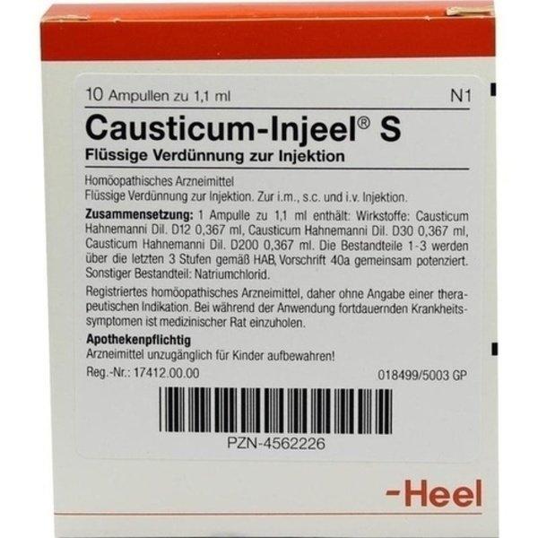 CAUSTICUM INJEEL S Ampullen 10 St