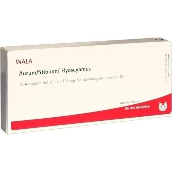 AURUM/STIBIUM/Hyoscyamus Ampullen 10X1 ml