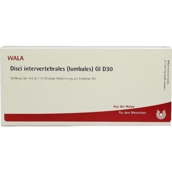 DISCI intervertebrales lumbales GL D 30 Ampullen 10X1 ml