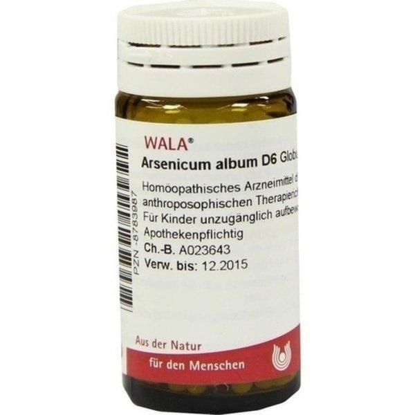 ARSENICUM ALBUM D 6 Globuli 20 g