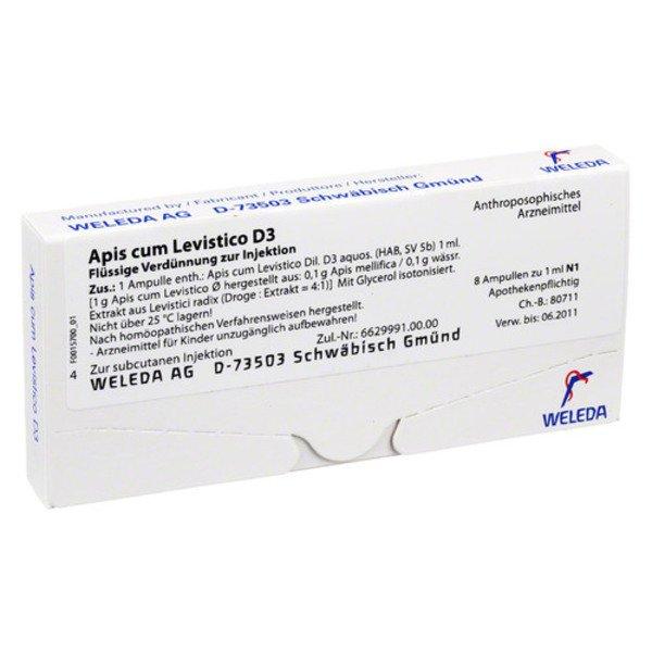APIS CUM levistico D 3 Ampullen 8X1 ml