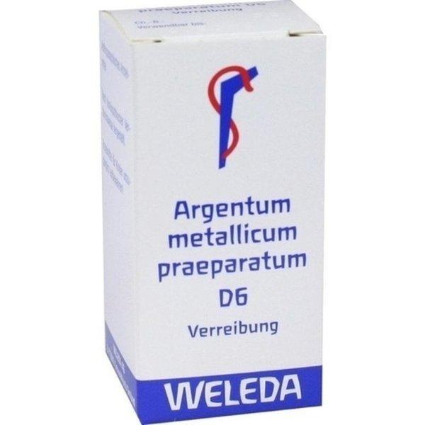 ARGENTUM METALLICUM praeparatum D 6 Trituration 20 g