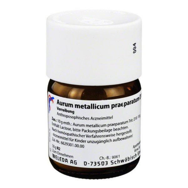 AURUM METALLICUM PRAEPARATUM D 10 Trituration 50 g