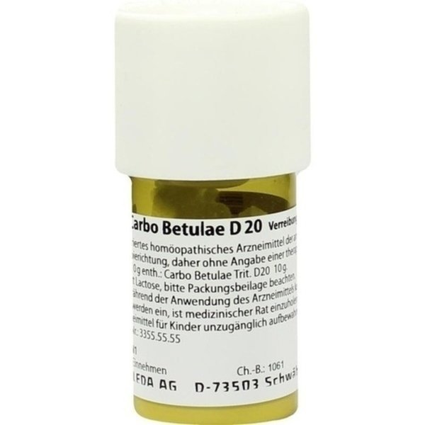 CARBO BETULAE D 20 Trituration 20 g