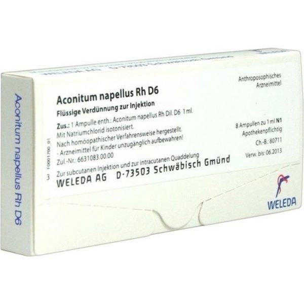 ACONITUM NAPELLUS Rh D 6 Ampullen 8X1 ml