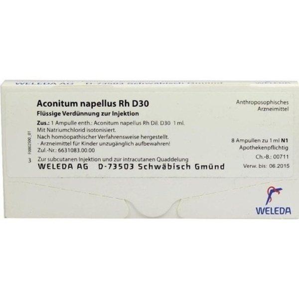 ACONITUM NAPELLUS Rh D 30 Ampullen 8X1 ml