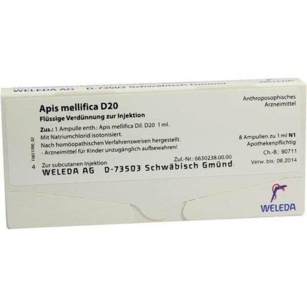 APIS MELLIFICA D 20 Ampullen 8 St