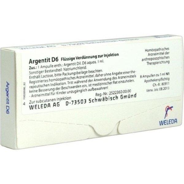 ARGENTIT D 6 Ampullen 8 St