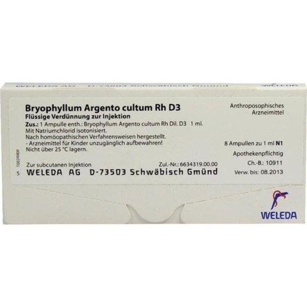 BRYOPHYLLUM ARGENTO cultum Rh D 3 Ampullen 8X1 ml