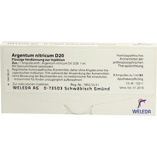 ARGENTUM NITRICUM D 20 Ampullen 8X1 ml