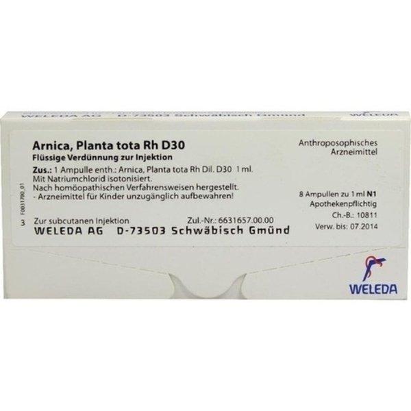 ARNICA PLANTA tota Rh D 30 Ampullen 8X1 ml