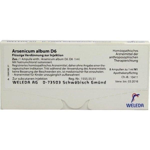 ARSENICUM ALBUM D 6 Ampullen 8 St