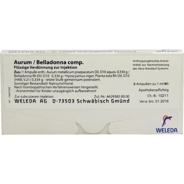 AURUM/BELLADONNA comp.Ampullen 8X1 ml