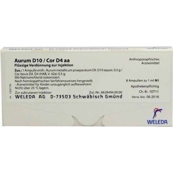 AURUM D 10/Cor D 4 aa Ampullen 8X1 ml