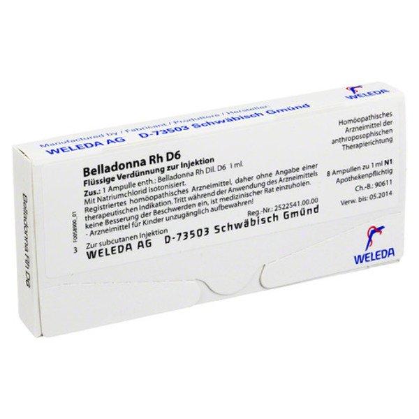 BELLADONNA RH D 6 Ampullen 8X1 ml