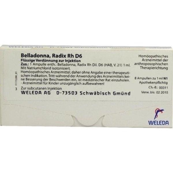 BELLADONNA RADIX Rh D 6 Ampullen 8X1 ml