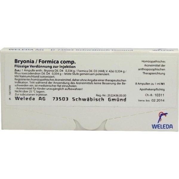 BRYONIA FORMICA comp.Ampullen 8X1 ml