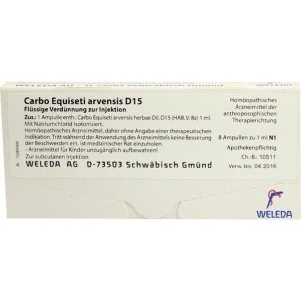 CARBO EQUISETI arvensis D 15 Ampullen 8X1 ml