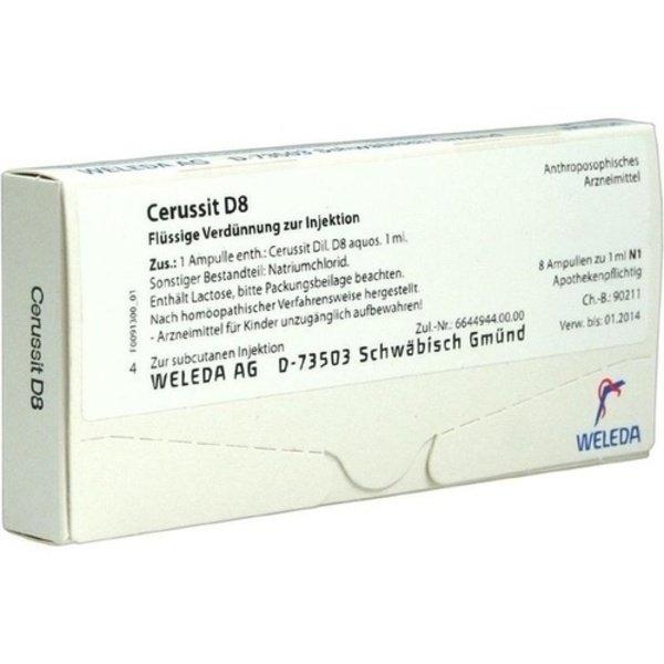 CERUSSIT D 8 Ampullen 8X1 ml