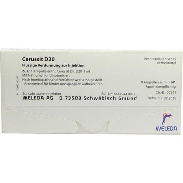 CERUSSIT D 20 Ampullen 8X1 ml