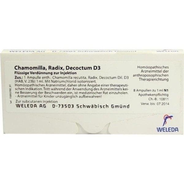 CHAMOMILLA RADIX D 3 Ampullen 8X1 ml