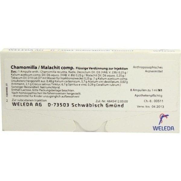 CHAMOMILLA/MALACHIT comp.Ampullen 8X1 ml