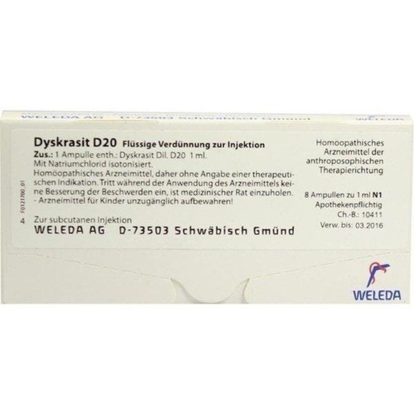 DYSKRASIT D 20 Ampullen 8X1 ml
