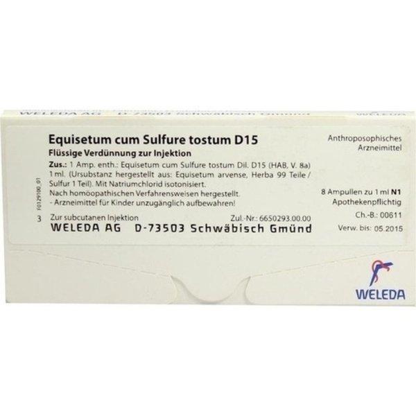 EQUISETUM CUM Sulfure tostum D 15 Ampullen 8X1 ml