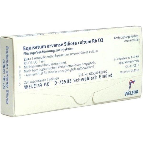 EQUISETUM ARVENSE Silicea cultum D 3 Ampullen 8 St