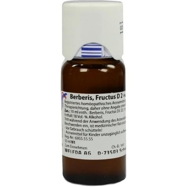 BERBERIS FRUCTUS D 2 Dilution 50 ml